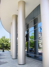 modern corporative business building entrance